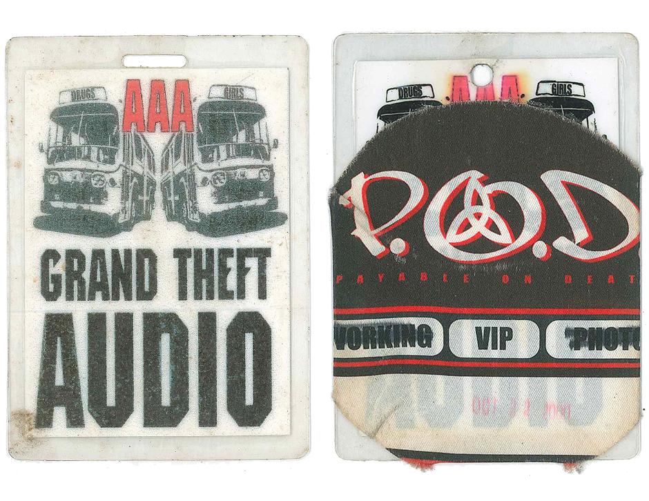 Grand Theft Audio/ P.O.D. Tour passes