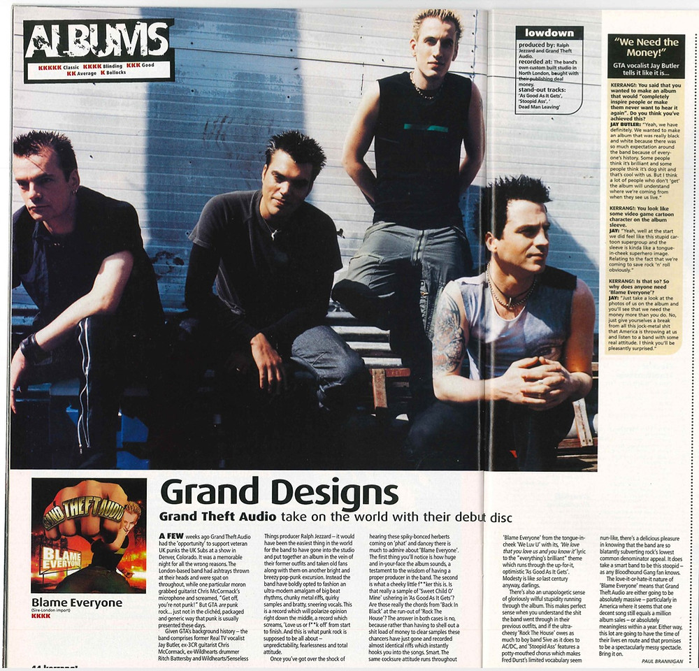Grand Theft Audio Blame Everyone Kerrang! Review