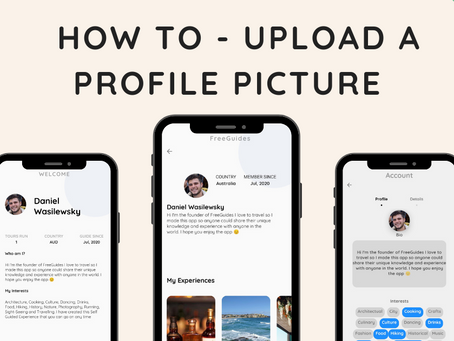 How to - Upload a profile picture