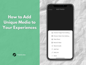 How to Add Unique Media to an Experience