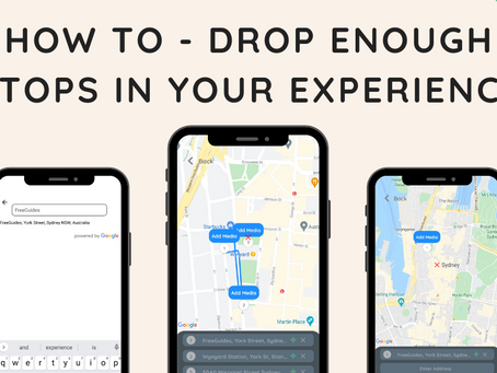 How to - Drop enough stops in your experience