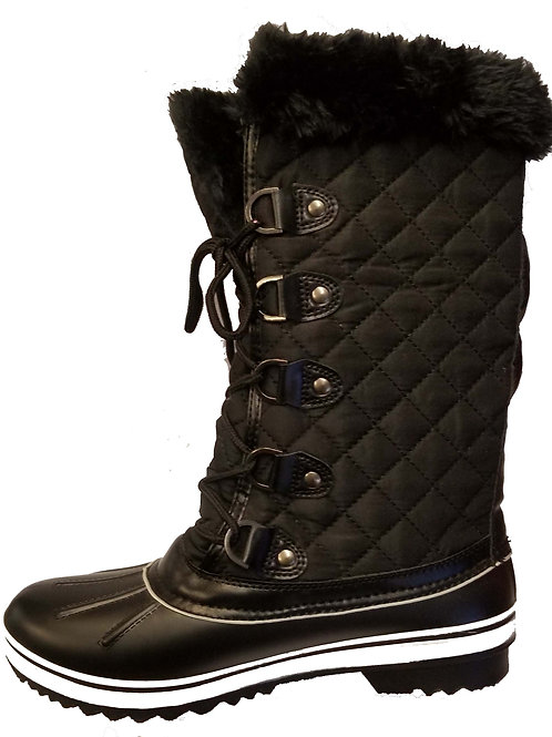 VALUE-18 (LONG BOOTS BLACK / WHITE)
