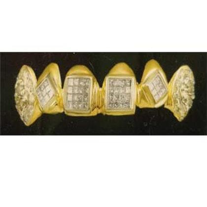 6 Gold Caps With Dia