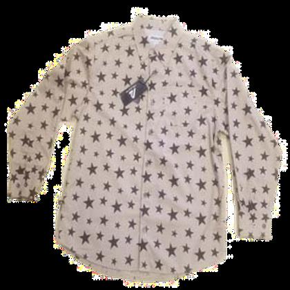 Long Sleeve Button Up Star Shirt