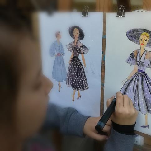 Dessin au crayon de couleur de Louise 9 ans