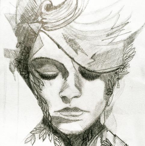dessin réalisé au crayon par Marylène