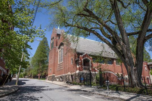 Outside of Trinity Episcopal Church