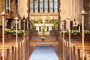 Trinity Decorated for Easter