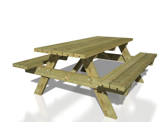 Picnic Table – Rectangular, 6 Seater