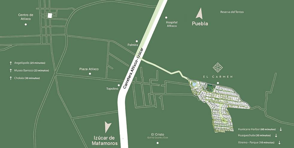 Mapa Ubicacion del fraccionamiento el Carmen