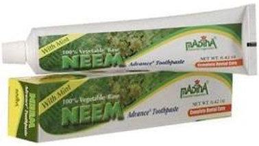 Madina Neem Toothpaste 100% Vegetable Base Flouride Free Advance Mint