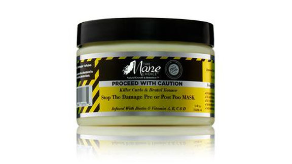 """The Mane     Choice """"Proceed With Caution"""" Mask"""