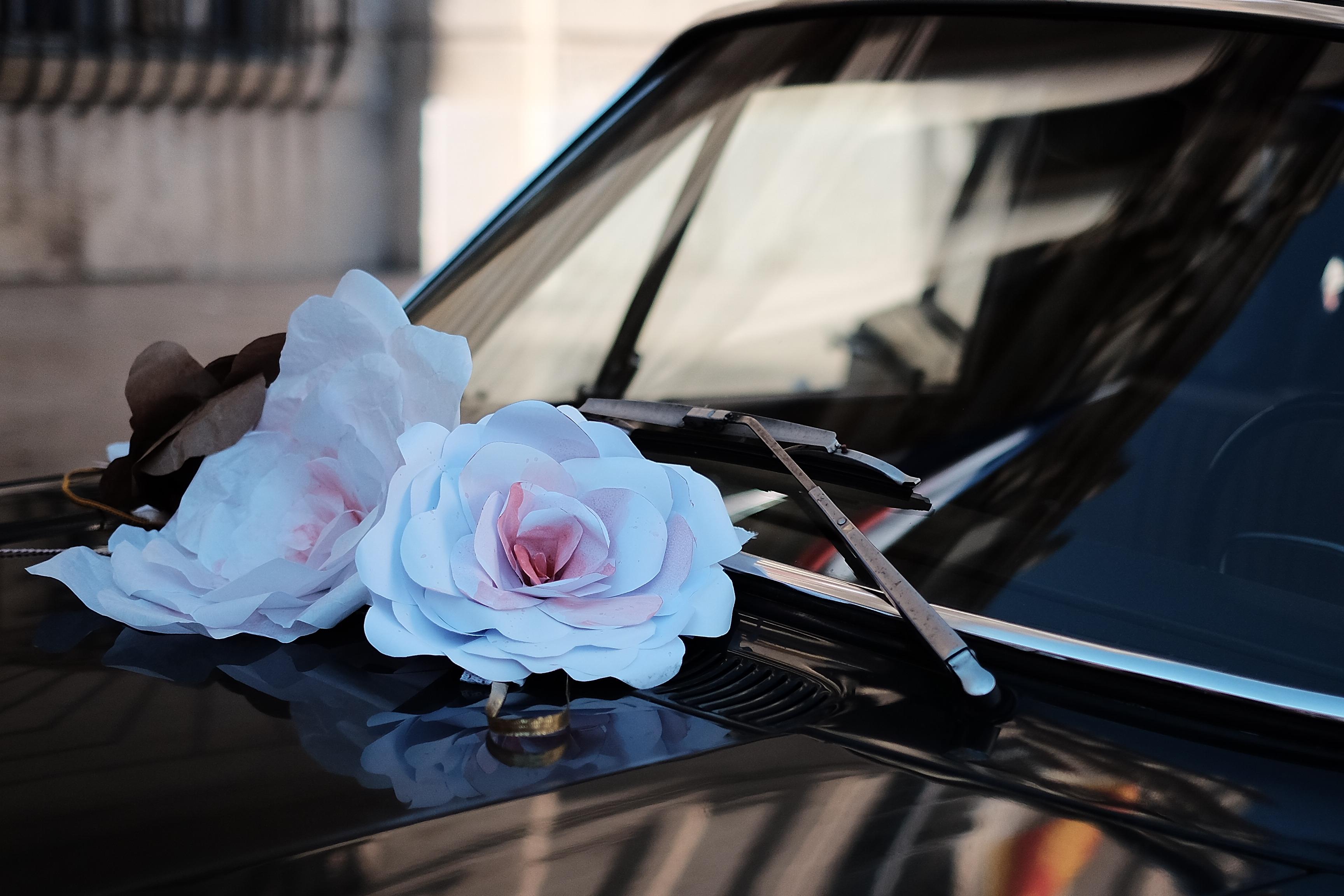 voiture mariage cool et boheme