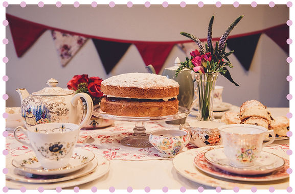 Vintage Cup and Cakes china hire