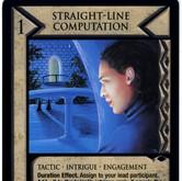 Straight Line Computation card