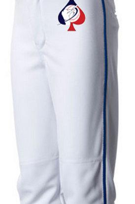 Grey Baseball Pant - Red Piping