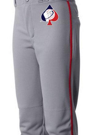 Grey Pant With Navy Piping