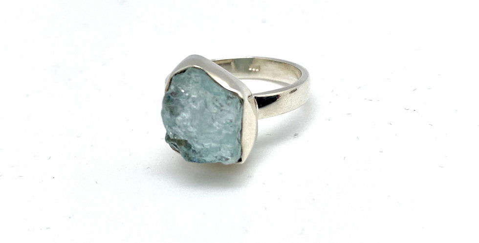 Aquamarin sølvring