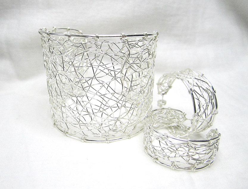 Håndlagd sølvsmykke