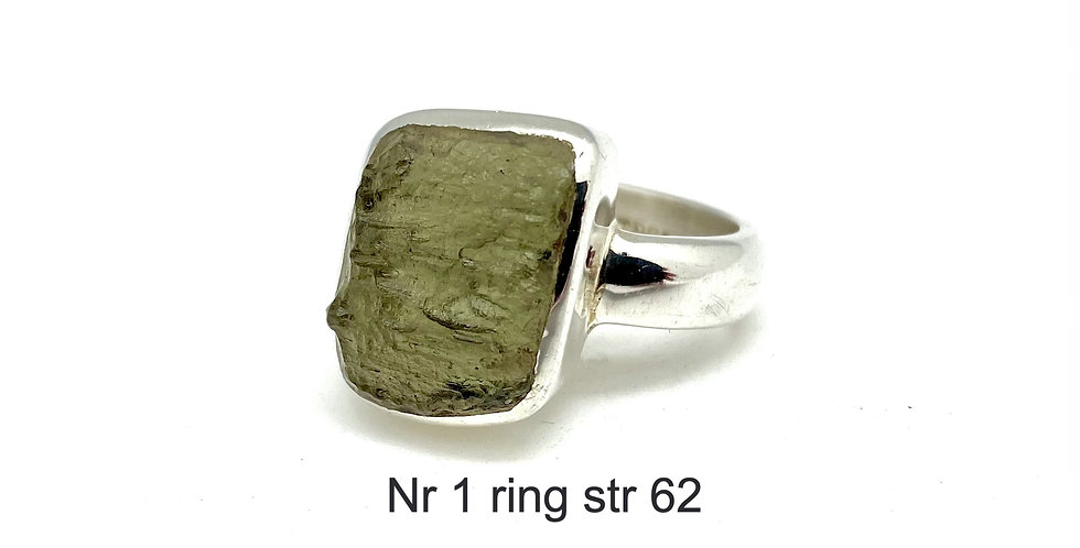 Moldavitt sølvring