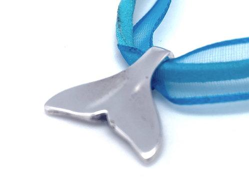 Delfin hale i sølv