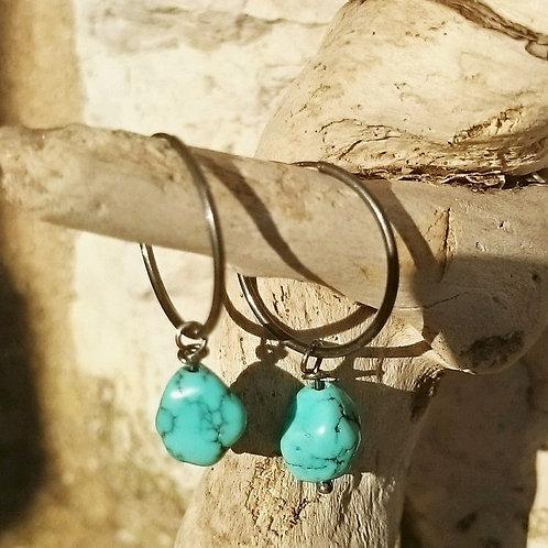 Øredobber Turquoise