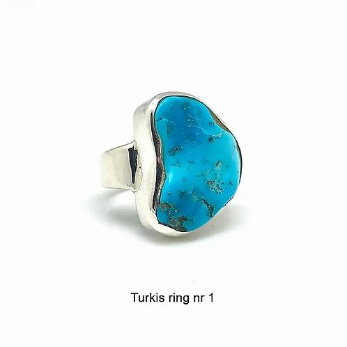 Turkis / Turquoise silverringer