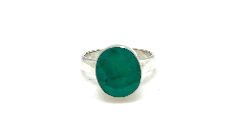 Smaragd sølvring