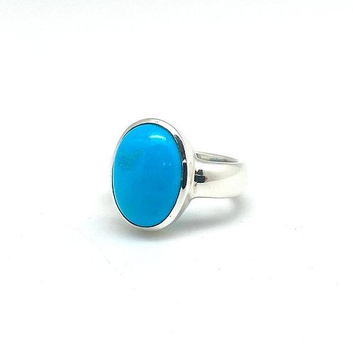 Turquoise silverring m/sleeping beauty