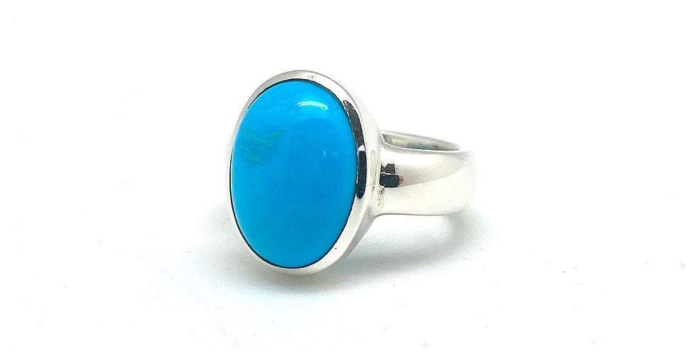 Turquoise silverring m/sleeping beauty