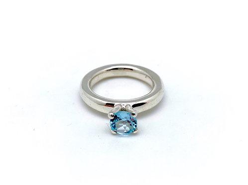 Prinsesse ring - Blå Topaz