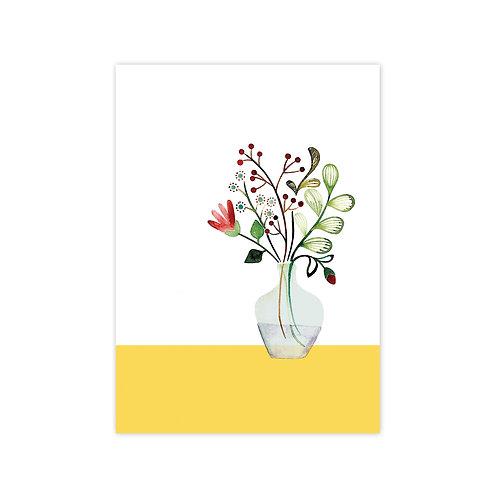 Ansichtkaart 'bloemen' | A6 | 4 stuks