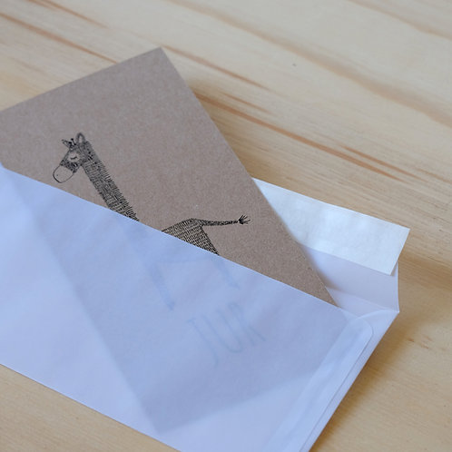 Envelop semi-transparant