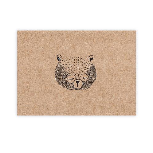 Kraft bear | incl. envelop | 4 stuks