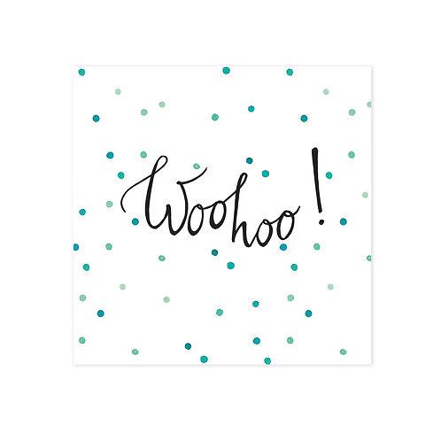 Wenskaarten Woohoo | incl. envelop | 4 stuks