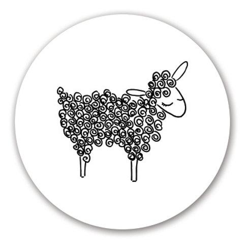 Sluitsticker schaap | 48 stuks