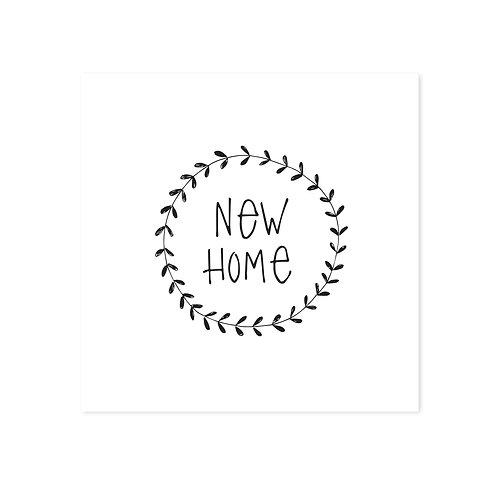 wenskaart 'new home'