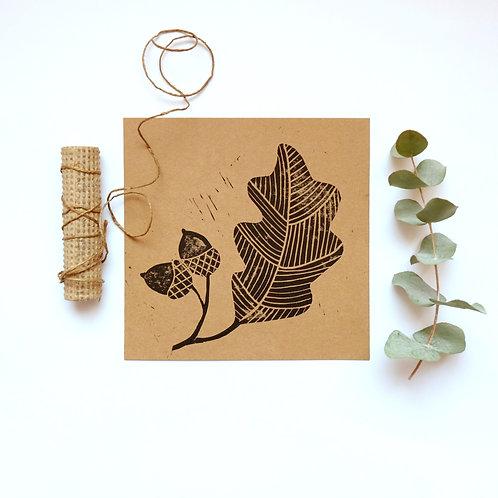 Kaart eikenblad