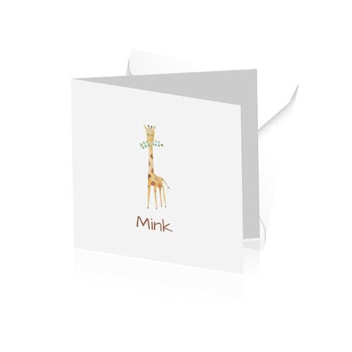 geboortekaartje Mink