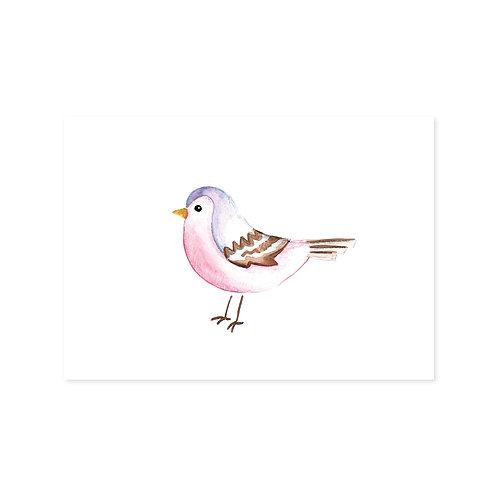 Ansichtkaart 'vogeltje'