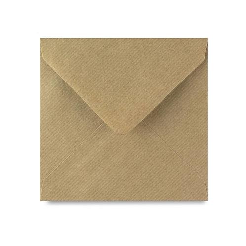 Envelop kraftpapier, geribbeld