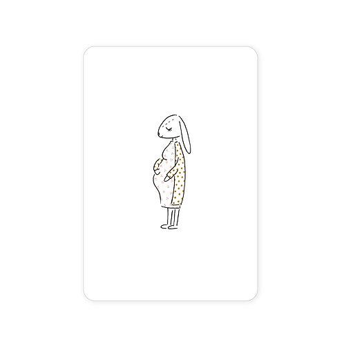 Ansichtkaart 'zwanger'