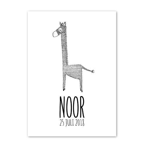 Geboorteposter Noor