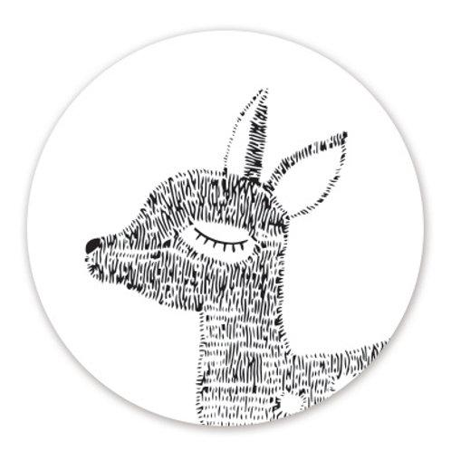 Sluitsticker hert | 48 stuks