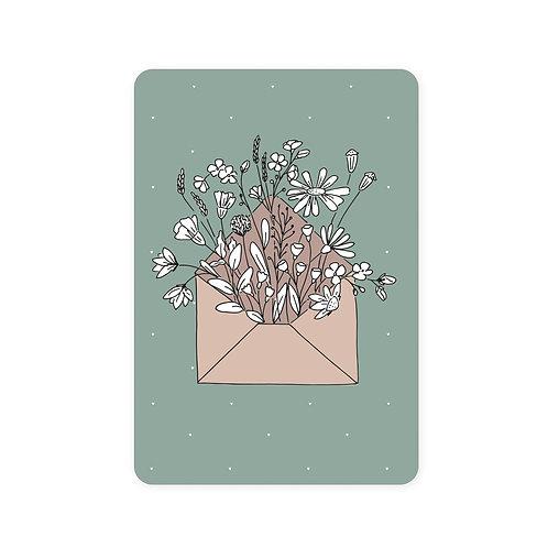 Ansichtkaart bloemen envelop | A6 | 10 stuks