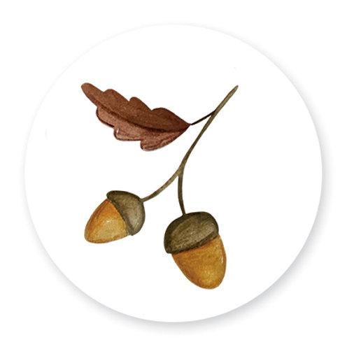 Sluitsticker herfst | 48 stuks