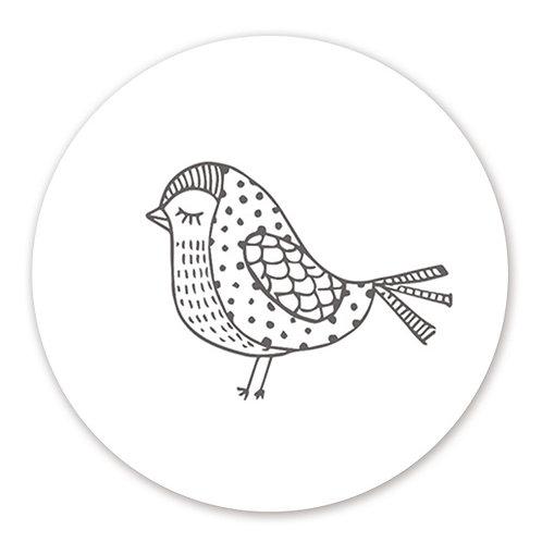 Sluitsticker vogel | 48 stuks