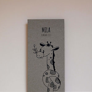 vrolijk-geboortekaartje-giraffe-penteken