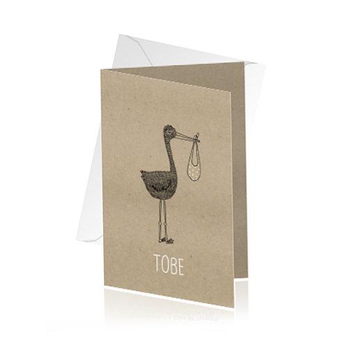 geboortekaartje Tobe