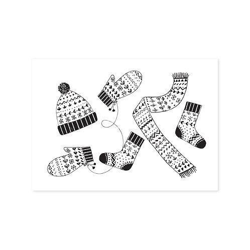 Sjaal & muts | A6 | 4 stuks